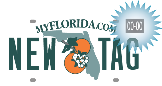 Florida license plate decal